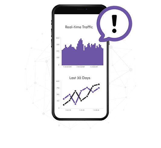 real time wifi traffic alerts on mobile phone