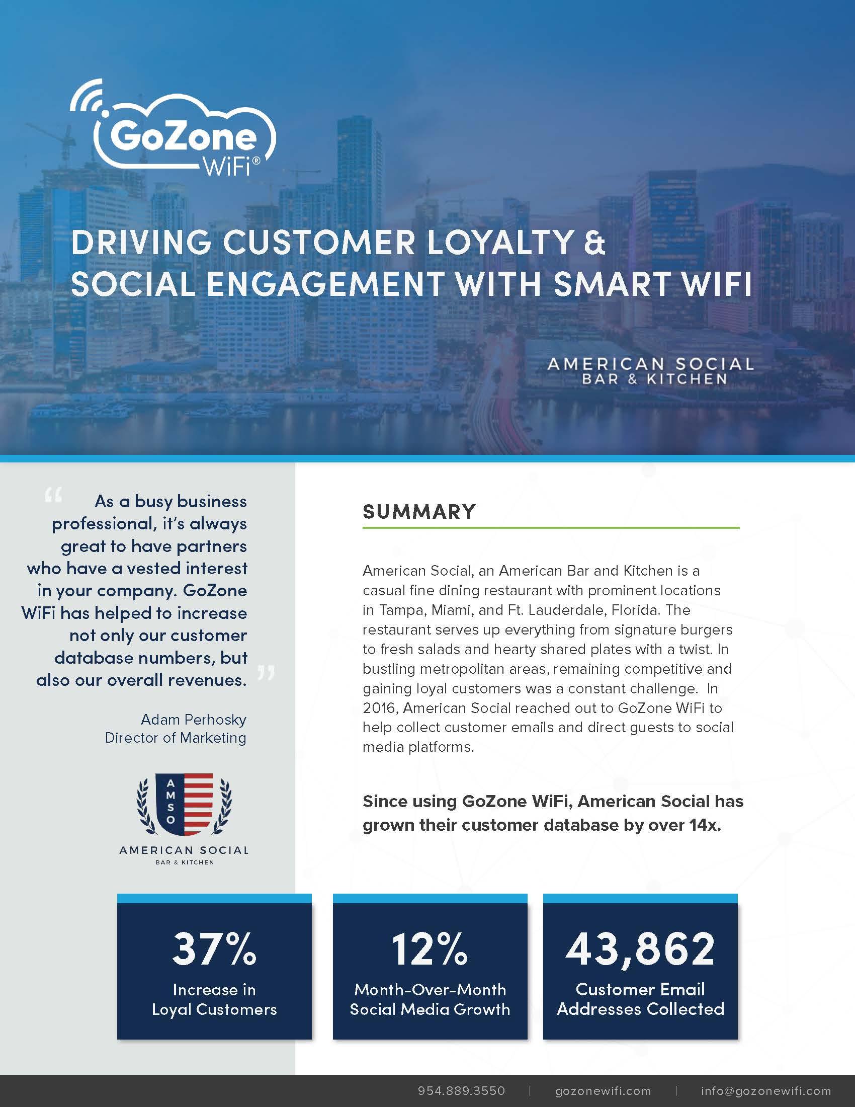 American Social Case Study   GoZone WiFi   Restaurant Loyalty