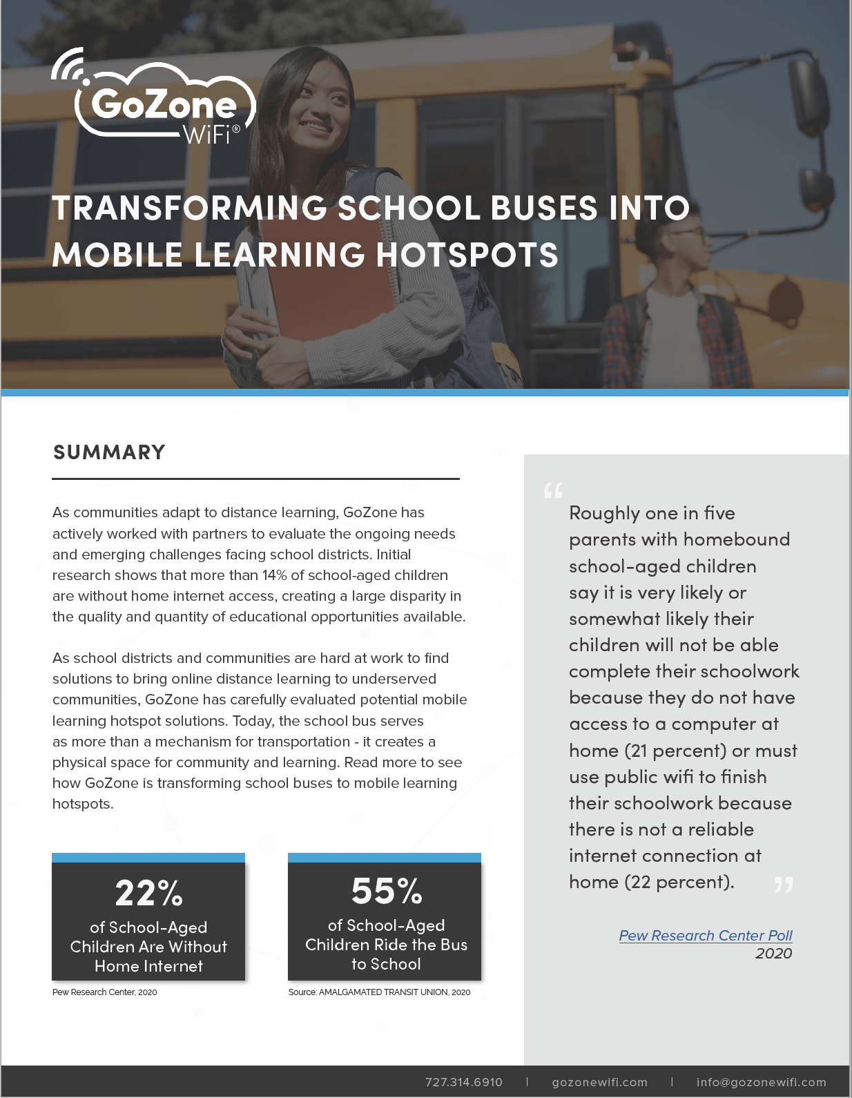 School Buses Mobile Learning Hotspot