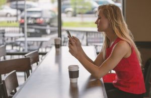 coffee-woman-phone